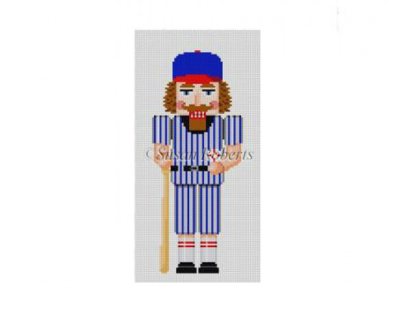 click here to view larger image of Baseball Player Nutcracker (hand painted canvases)