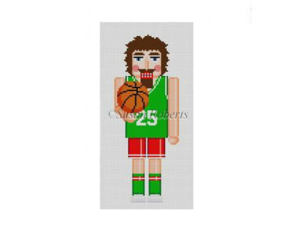 click here to view larger image of Basketball Player Nutcracker (hand painted canvases)
