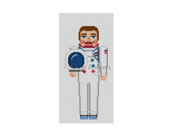 click here to view larger image of Astronaut Nutcracker (hand painted canvases)