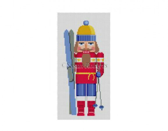 click here to view larger image of Skier Nutcracker (hand painted canvases)