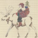 click here to view larger image of Moose Country Santa (hand painted canvases)