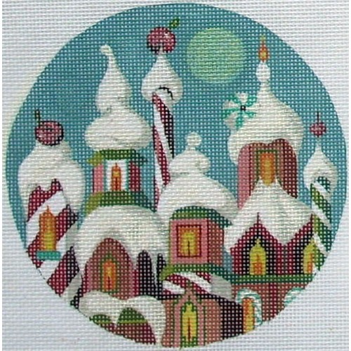 click here to view larger image of Villa of Sweets Ornament (hand painted canvases)
