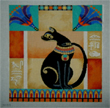 click here to view larger image of Bastet the Cat Goddess (hand painted canvases)