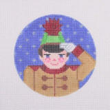 click here to view larger image of Nutcracker Suite Ornament - Nutcracker Prince (hand painted canvases)
