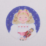 click here to view larger image of Nutcracker Suite Ornament - Clara (hand painted canvases)