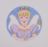 click here to view larger image of Nutcracker Suite Ornaments - Sugarplum Fairy (hand painted canvases)