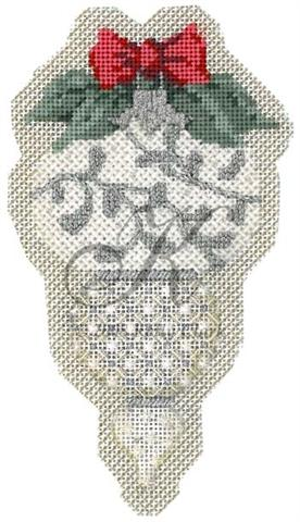 click here to view larger image of April White Diamond Ornament Stitch Guide (books)