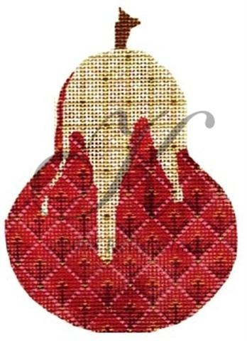 click here to view larger image of Vanilla Drizzle Pear Ornament Stitch Guide (books)