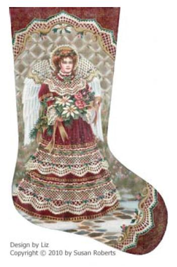 click here to view larger image of Angel and Bouquet Stocking (None Selected)