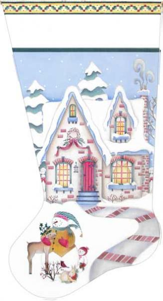 click here to view larger image of Cozy Winter Cottage Stocking (None Selected)