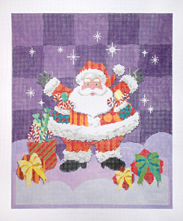 click here to view larger image of Patterned Santa (None Selected)