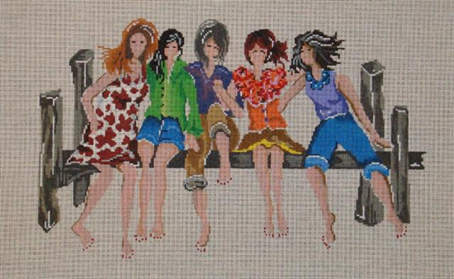click here to view larger image of 5 Girlfriends - Stitch Guide (books)
