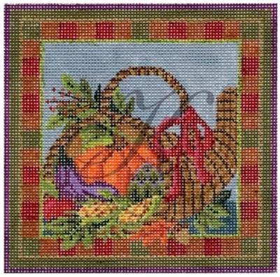 click here to view larger image of November Cornucopia Basket Stitch Guide (books)