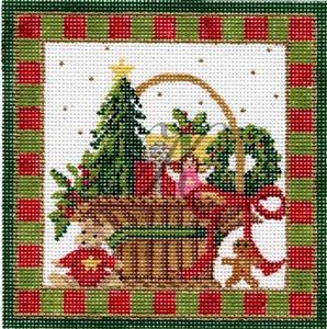 click here to view larger image of December Christmas Basket Stitch Guide (books)