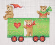 click here to view larger image of Christmas Train - Box Car With Bears (None Selected)