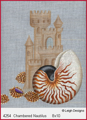 click here to view larger image of Chambered Nautilus (hand painted canvases)
