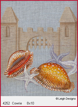click here to view larger image of Cowrie (hand painted canvases)