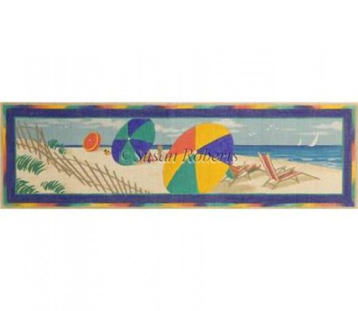 click here to view larger image of Beach Scene - 13ct (hand painted canvases)