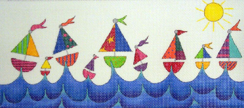 click here to view larger image of Regatta, The (hand painted canvases)
