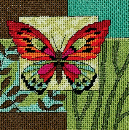 click here to view larger image of Butterfly Impression (needlepoint kits)