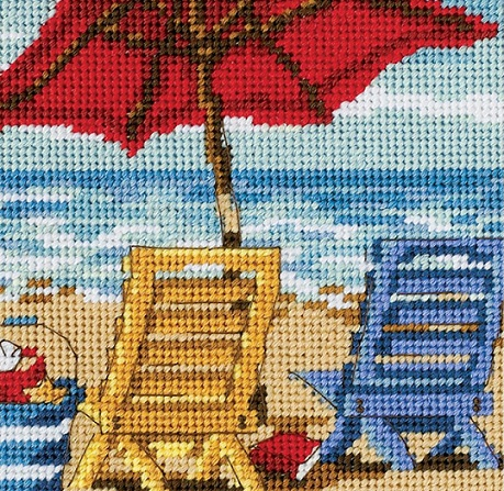 click here to view larger image of Beach Chair Duo (needlepoint kits)