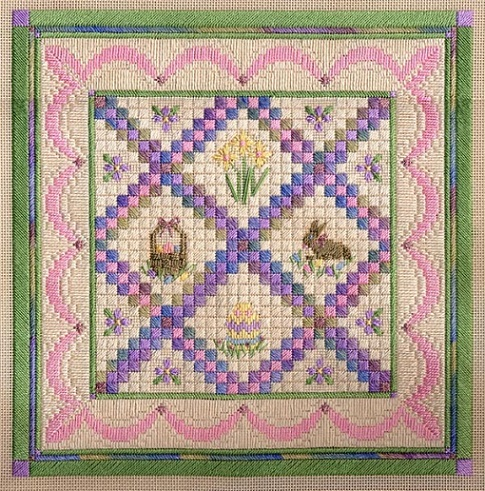 Easter/Springtime Quilt counted canvas work