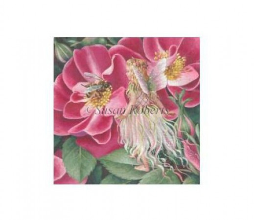 click here to view larger image of Wild Rose Fairy (hand painted canvases)