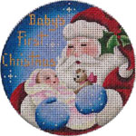click here to view larger image of Babies First Chrsitmas - Girl (hand painted canvases)