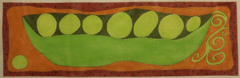 click here to view larger image of Peas in a Pod (hand painted canvases)