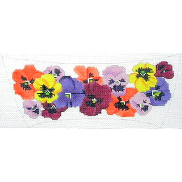 click here to view larger image of Pansies Slide (hand painted canvases)