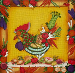 click here to view larger image of Chicken Salad (18ct) (hand painted canvases)