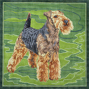 click here to view larger image of Welsh Terrier (hand painted canvases)