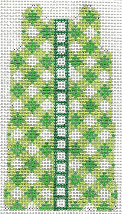 click here to view larger image of Green Gingham Shift (18ct) (hand painted canvases)