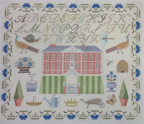 click here to view larger image of English Sampler - Country Estate (hand painted canvases)