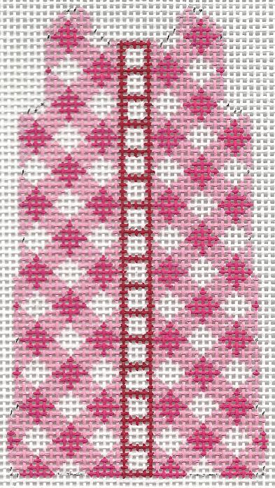 click here to view larger image of Pink Gingham Shift (14ct) (hand painted canvases)