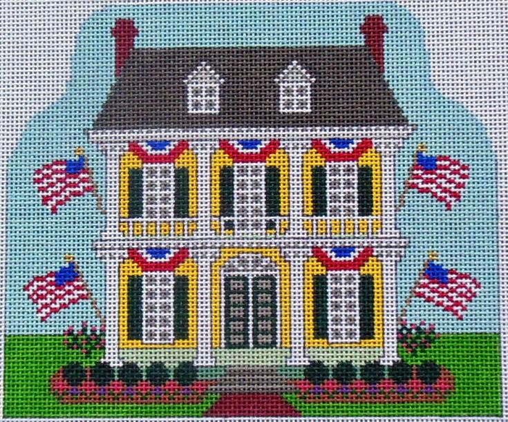 click here to view larger image of Fourth of July House (hand painted canvases)