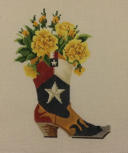 click here to view larger image of Texas Boot (hand painted canvases)