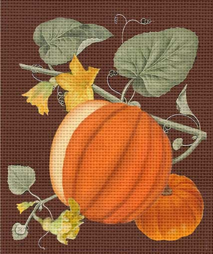 click here to view larger image of Vintage Pumpkins (hand painted canvases)