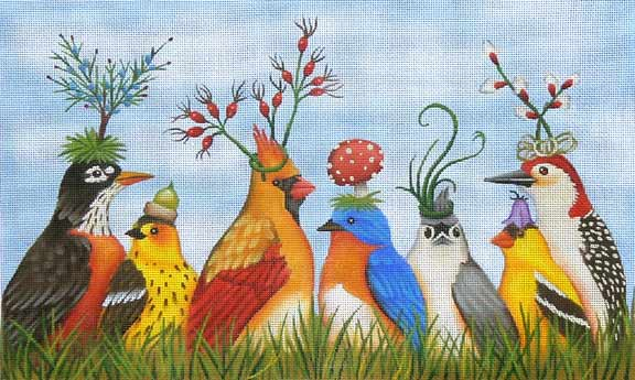 click here to view larger image of Garden Party (hand painted canvases)