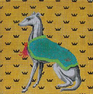 click here to view larger image of Royal Greyhound (hand painted canvases)