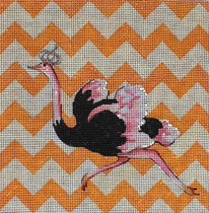 click here to view larger image of Ostrich (hand painted canvases)