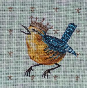 click here to view larger image of Bird with Crown (hand painted canvases)