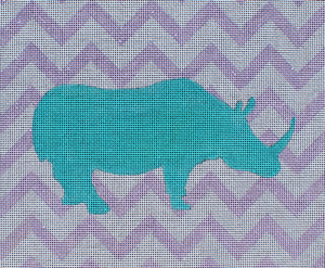click here to view larger image of Graphic Rhino (hand painted canvases)