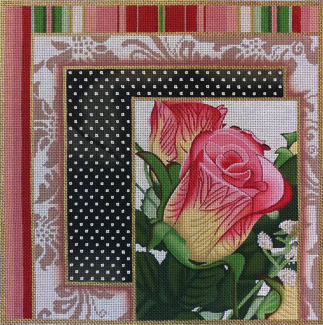 click here to view larger image of Rose Collage #1 (hand painted canvases)