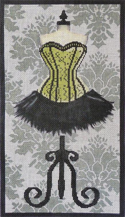 click here to view larger image of Green Corset Dress (hand painted canvases)