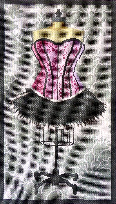 click here to view larger image of Pink Corset Dress (hand painted canvases)