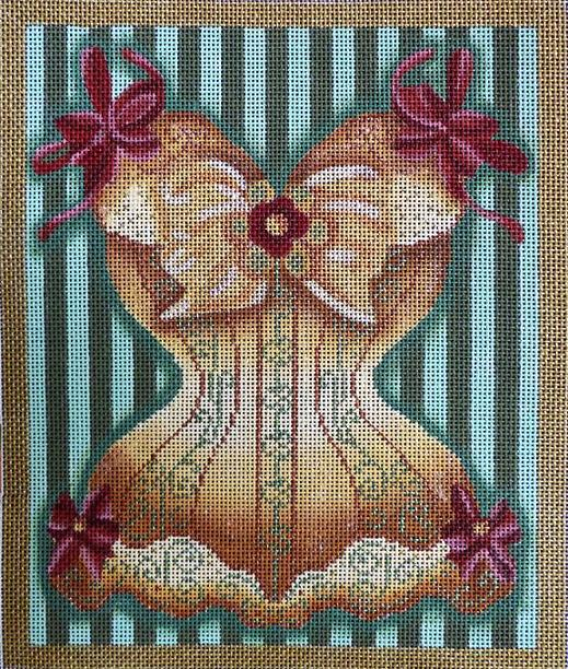 click here to view larger image of Golden Corset (hand painted canvases)