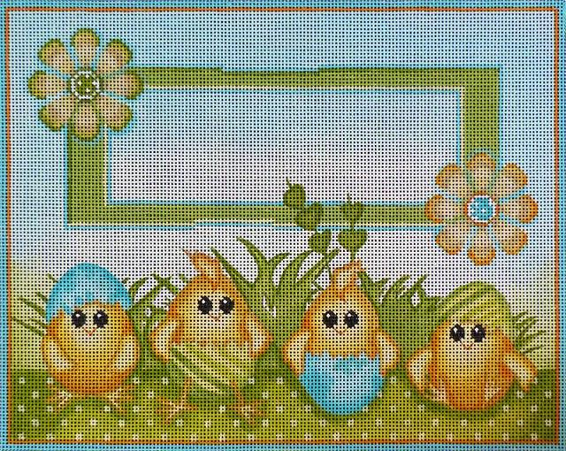 click here to view larger image of Chicks in Eggs Birth Announcement (hand painted canvases)