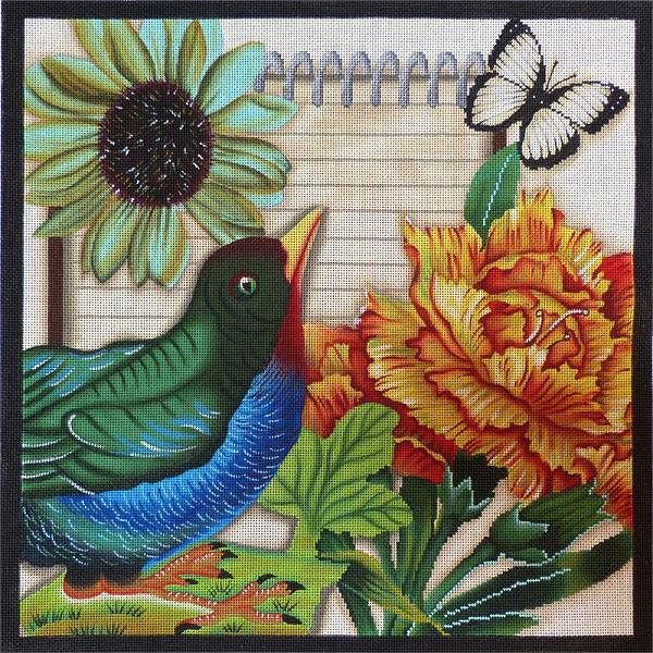 click here to view larger image of Buebird Botanical (hand painted canvases)