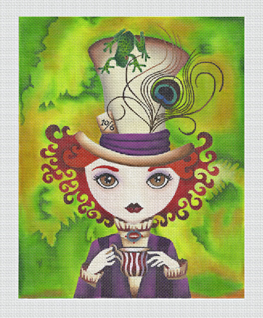 click here to view larger image of Lady Hatter (hand painted canvases)